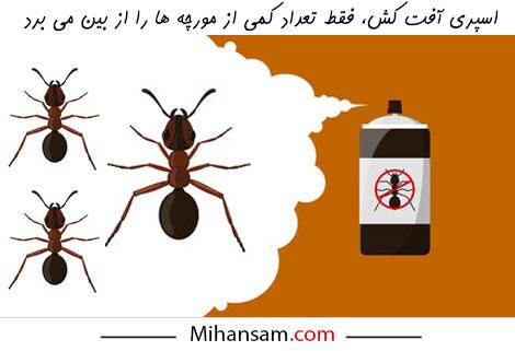 اسپری آفت کش، روش مناسبی برای از بین بردن مورچه ها نیست